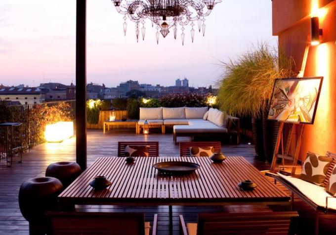 Illuminare il terrazzo con stile arredo for Terrazza arredo esterni