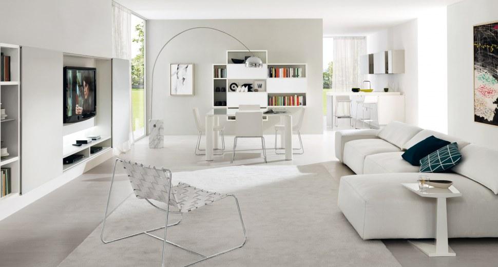 Idee di arredamento per interni con il total white - Arredamento interno casa moderna ...