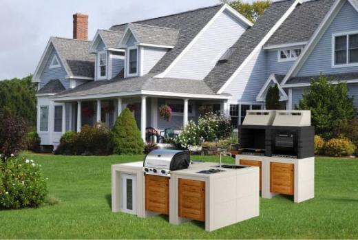 Cucine da esterno mobili, modulari e compatte