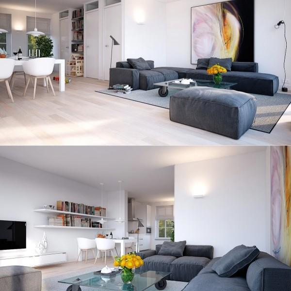 Idee per arredare il soggiorno con stile e design immagini for Arredare con stile