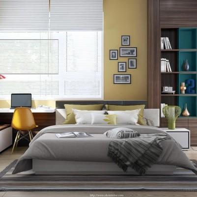 Idee per arredare o rinnovare la camera da letto con stile - Camera da letto moderna bianca laccata ...