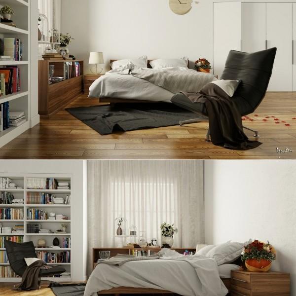 Idee per arredare o rinnovare la camera da letto con stile - Camera da letto con parquet ...